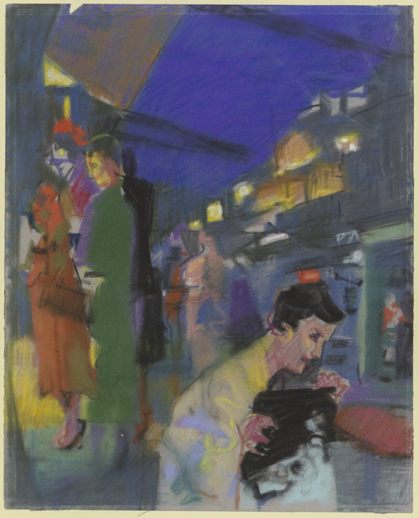 In front of the café (Paris), Reinhold Ewald