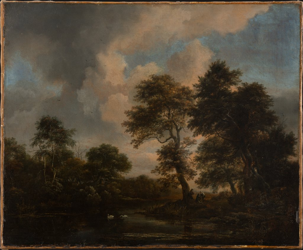 Forest Lake with two Swans, Jacob Isaacksz. van Ruisdael