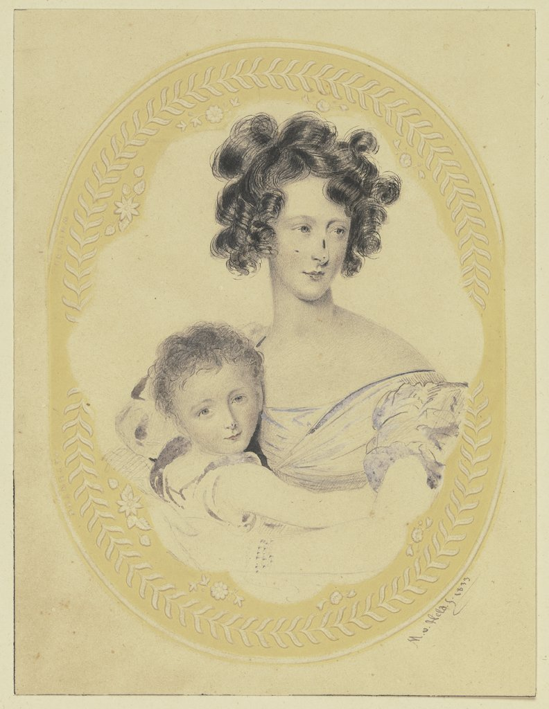 Mother with her boy, Michael von Held