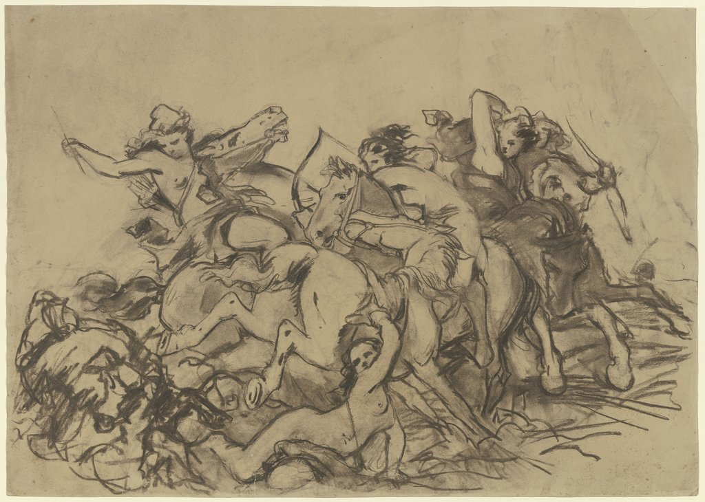 Battle of the Amazons, Rudolf Friedrich August Henneberg   attributed