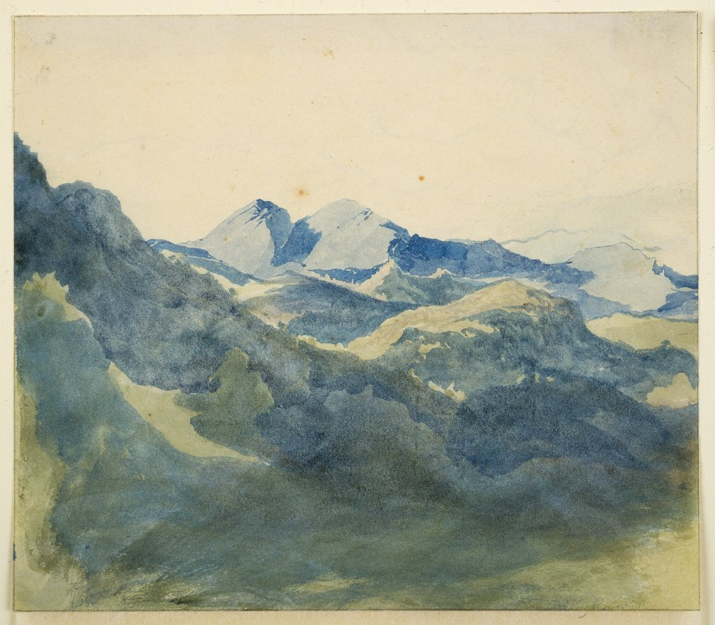 Landscape with Blue Mountains, Franz Horny