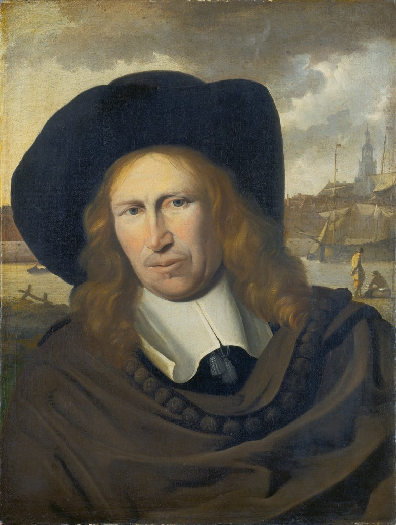 Portrait of a Man from the City of Emden, Ludolf Backhuysen