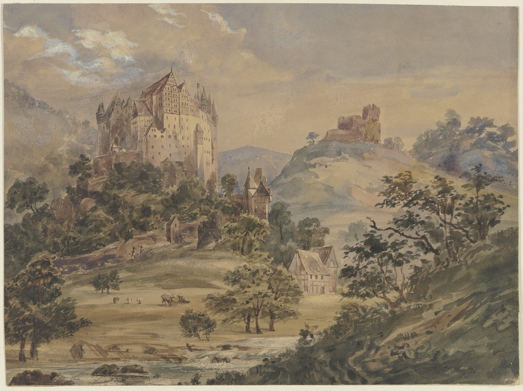 Castle Eltz on the Moselle, Julius Hübner