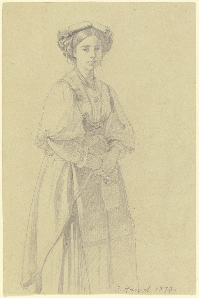Young Italian woman, Julius Hamel