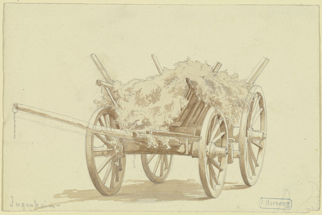 Hay cart, Karl Friedrich Harveng