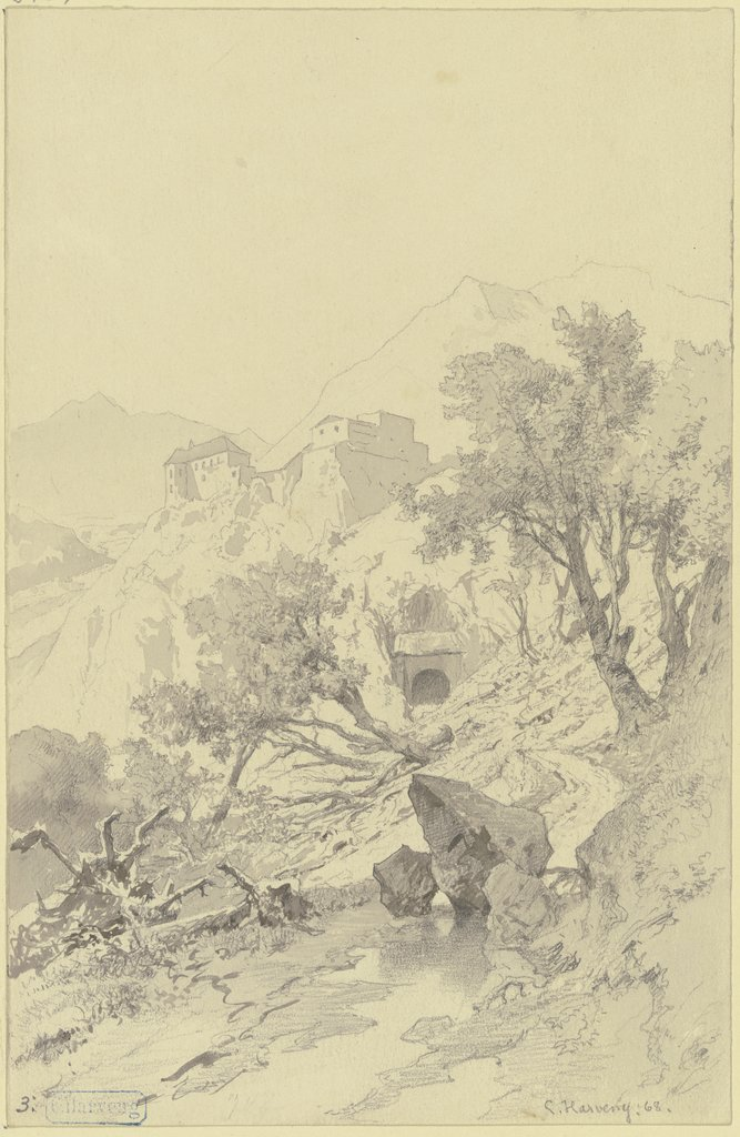 Castle in the mountains, Karl Friedrich Harveng