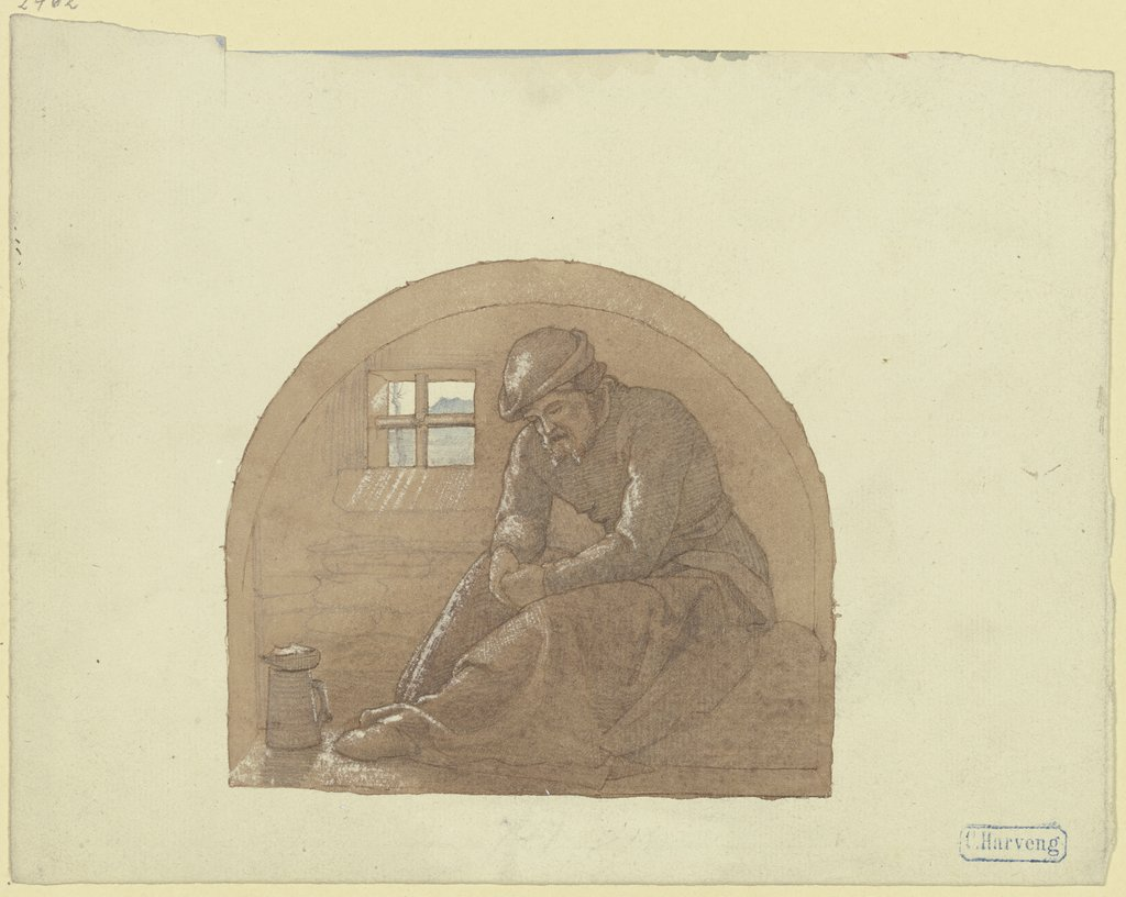 Old man in prison, Karl Friedrich Harveng
