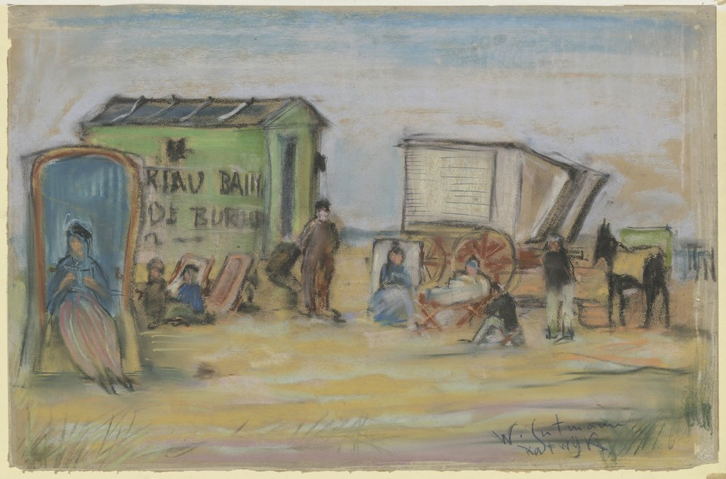 Bathing machine in Katwijk, Wilhelm Gutmann