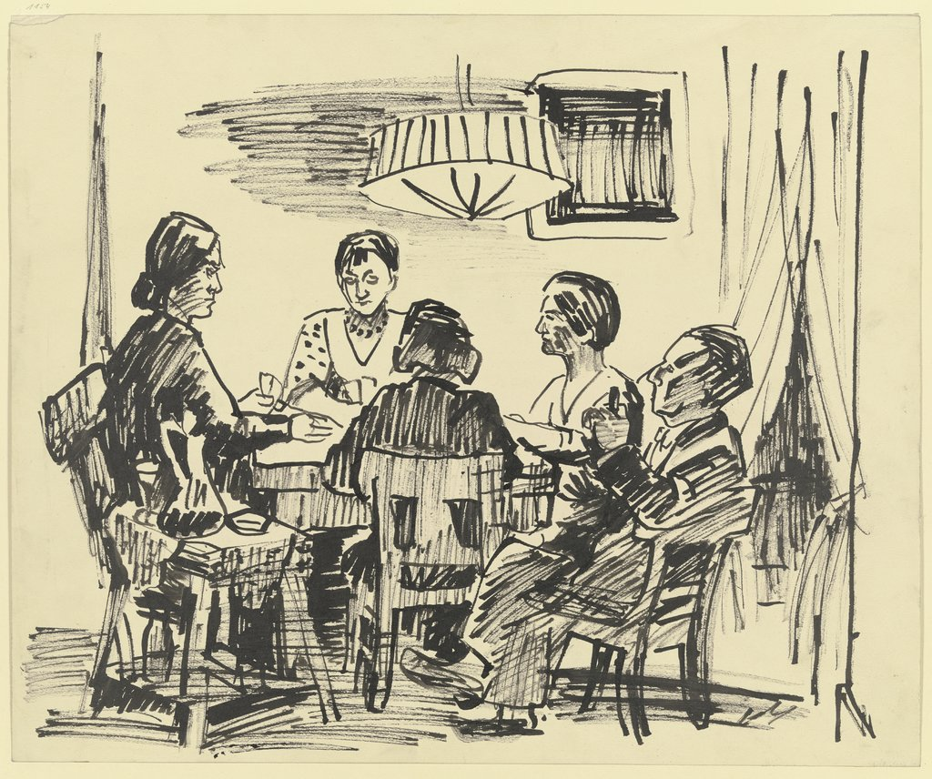 Card players, Theo Garve