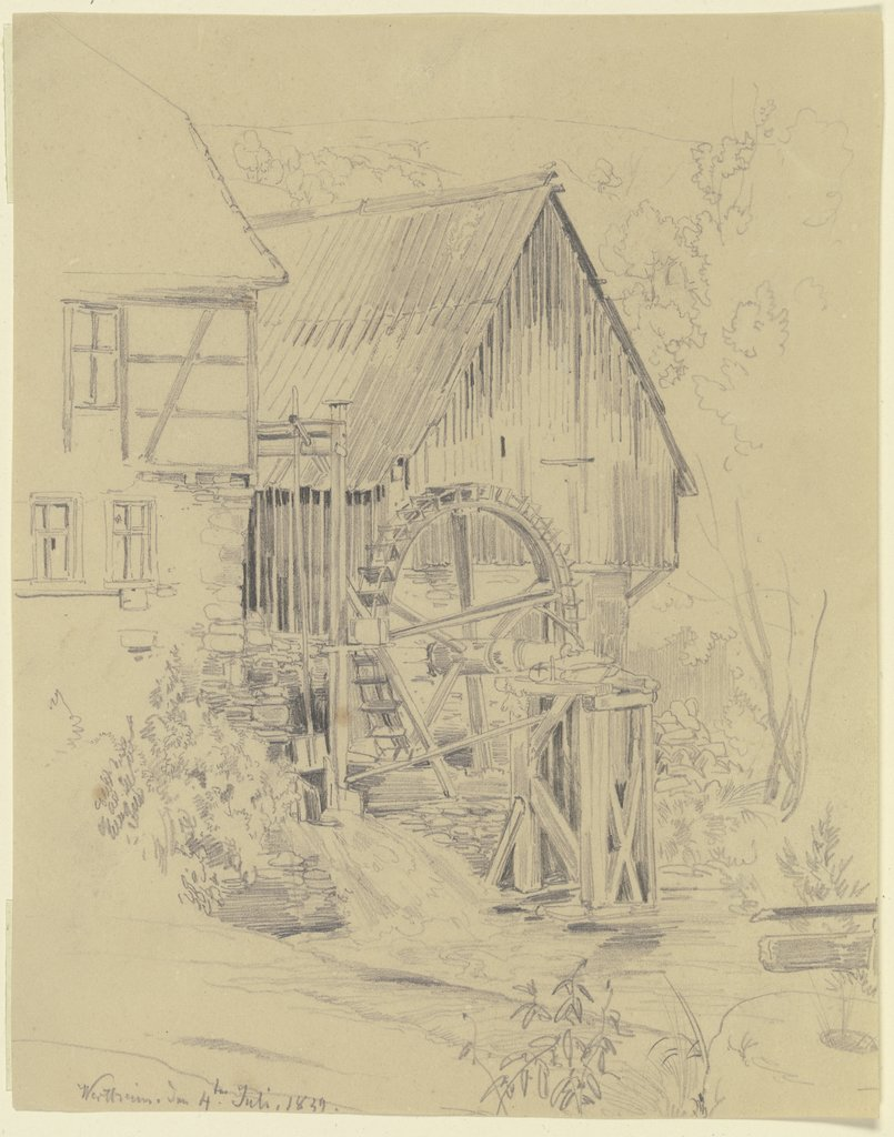 Mühle in Wertheim, Fritz Bamberger