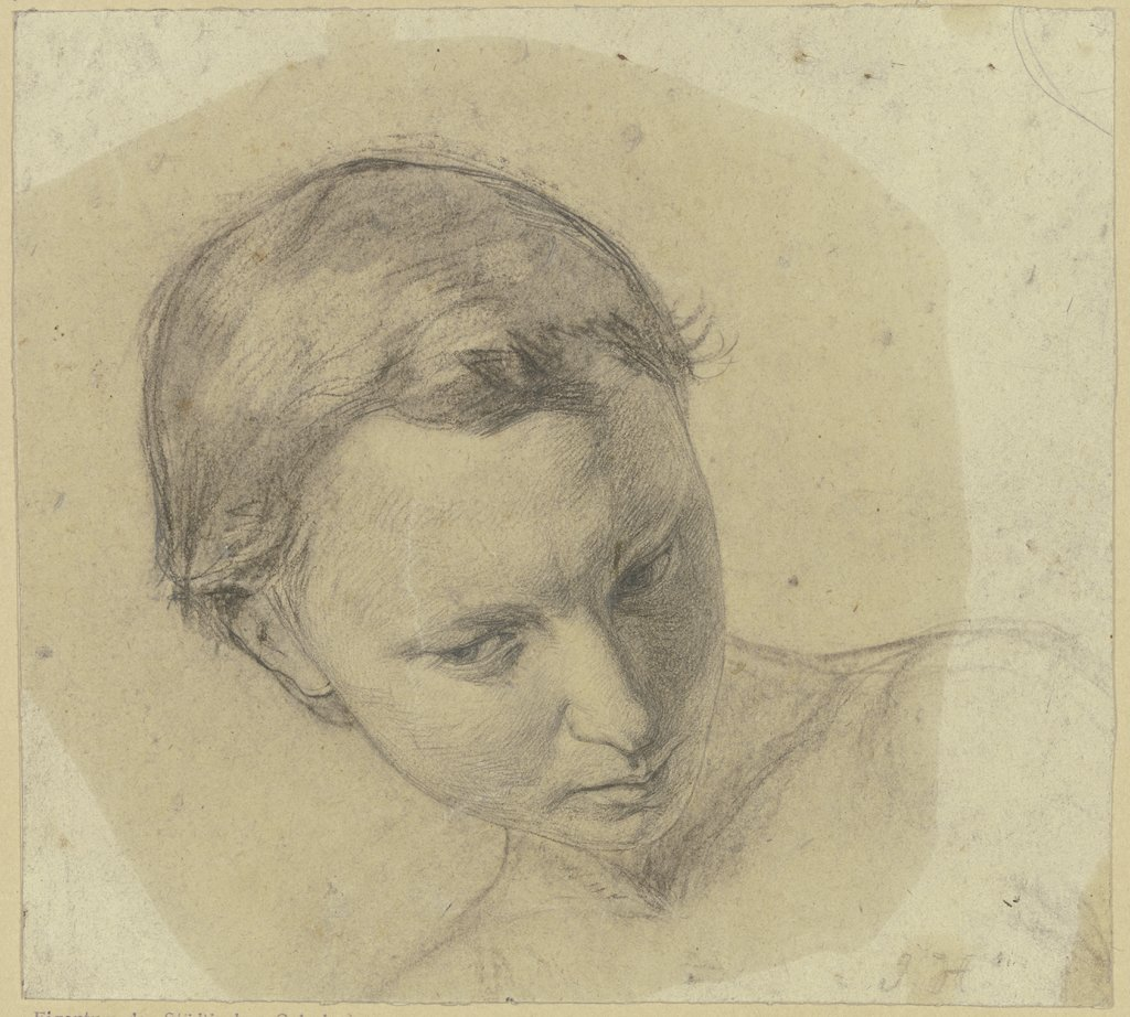 Girl's head, Julius Hamel