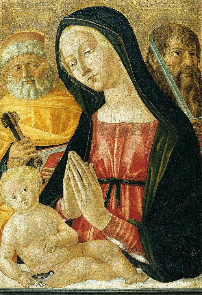 Virgin and Child with Saints Peter and Paul, Neroccio di Bartolomeo di Benedetto de' Landi  Werkstatt