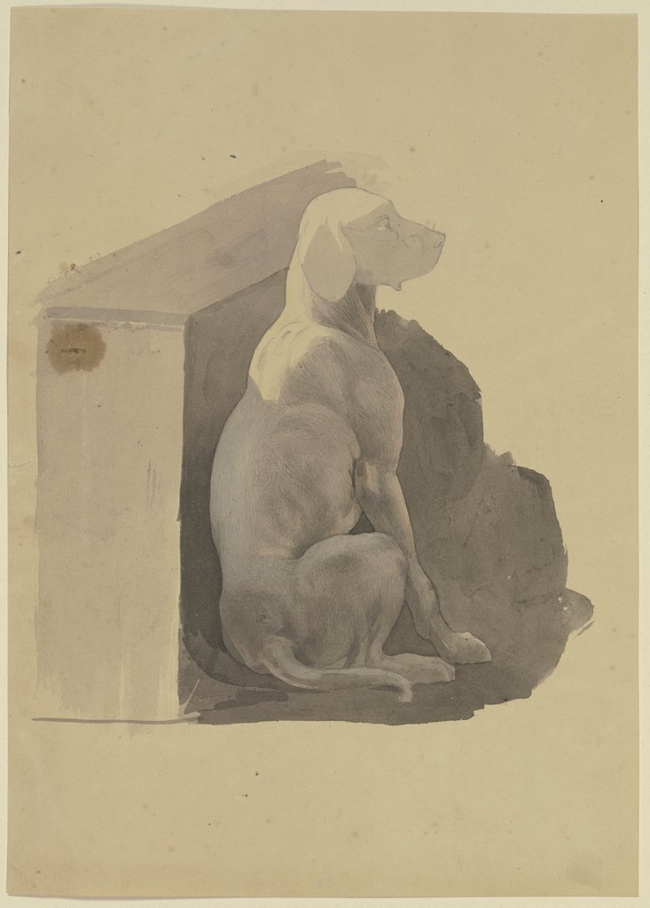 Dog in front of its hut, Jakob Becker