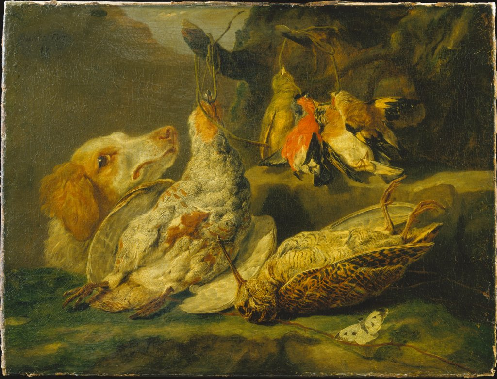 Still Life with Hunting Dog and Dead Fowl, Jan Fijt
