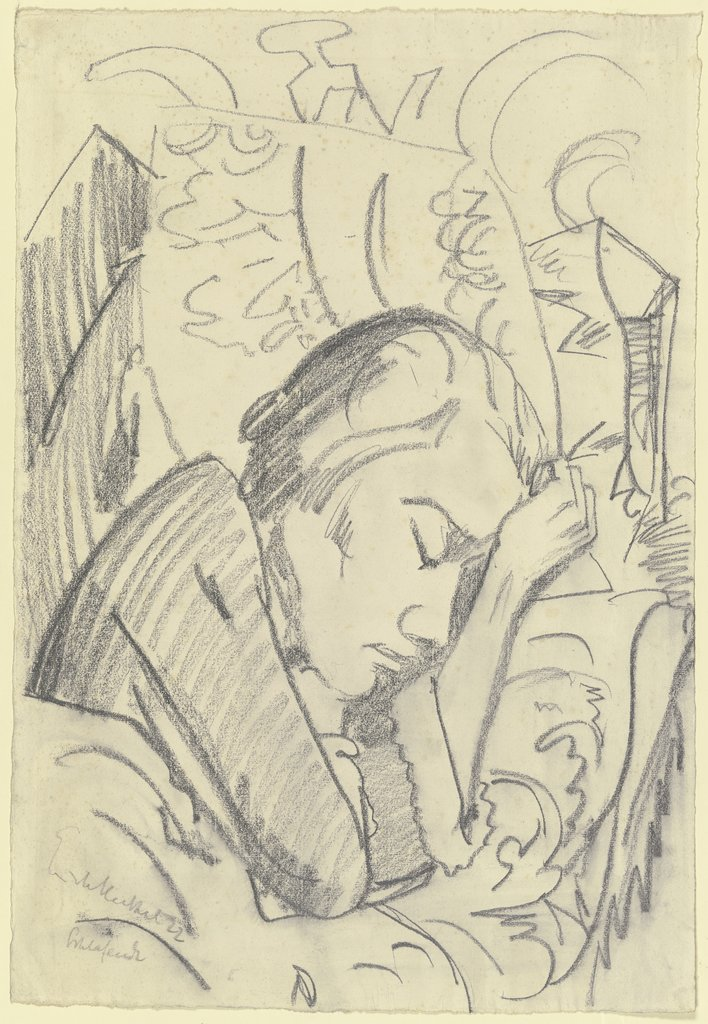 Sleeping woman, Erich Heckel