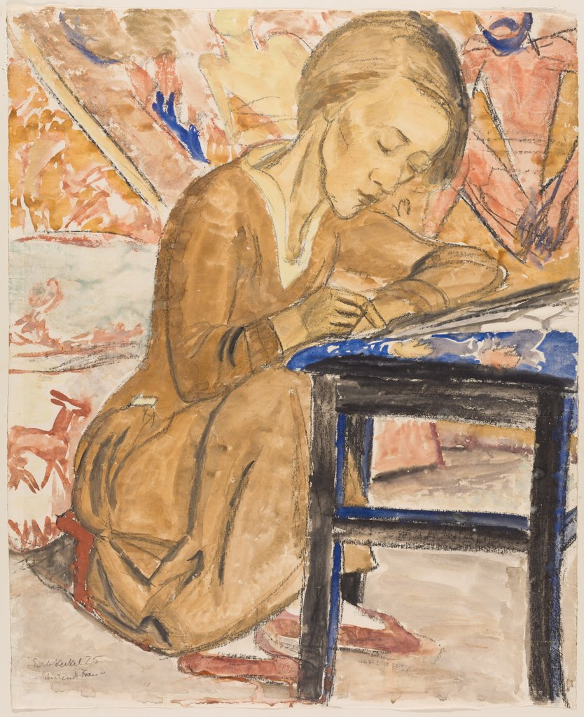 Woman Writing (Siddi Heckel), Erich Heckel