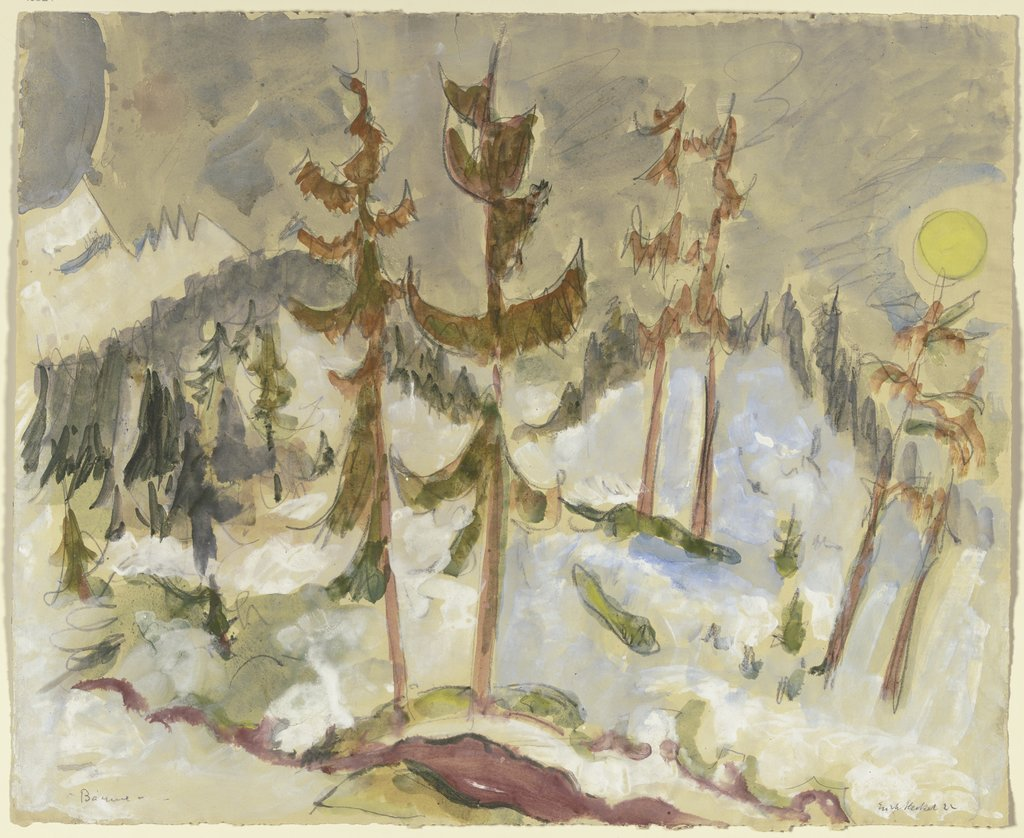 Fir trees, Erich Heckel