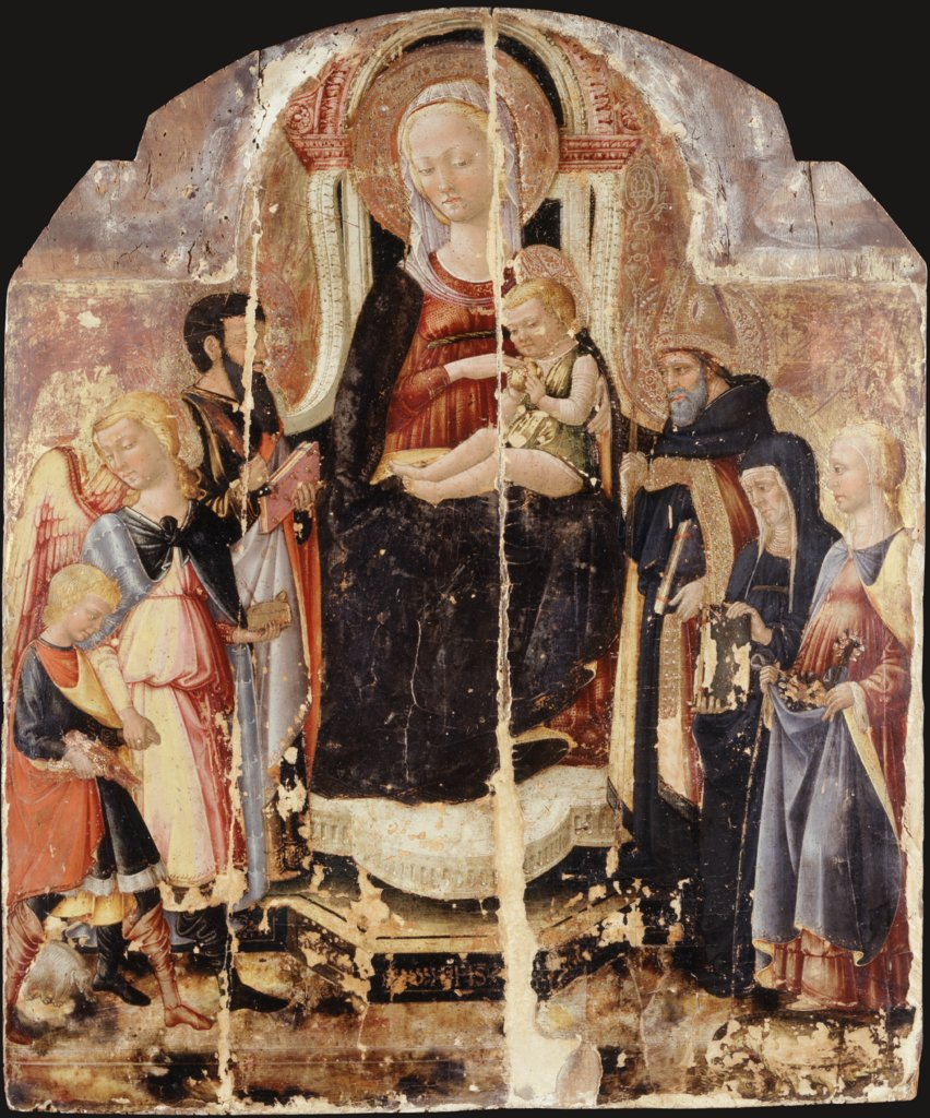 Virgin and Child Enthroned with Saints, Neri di Bicci