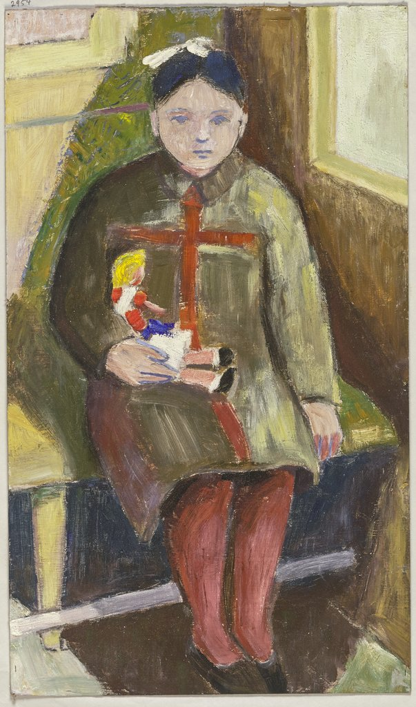 Child with doll, Wolfgang Hosse