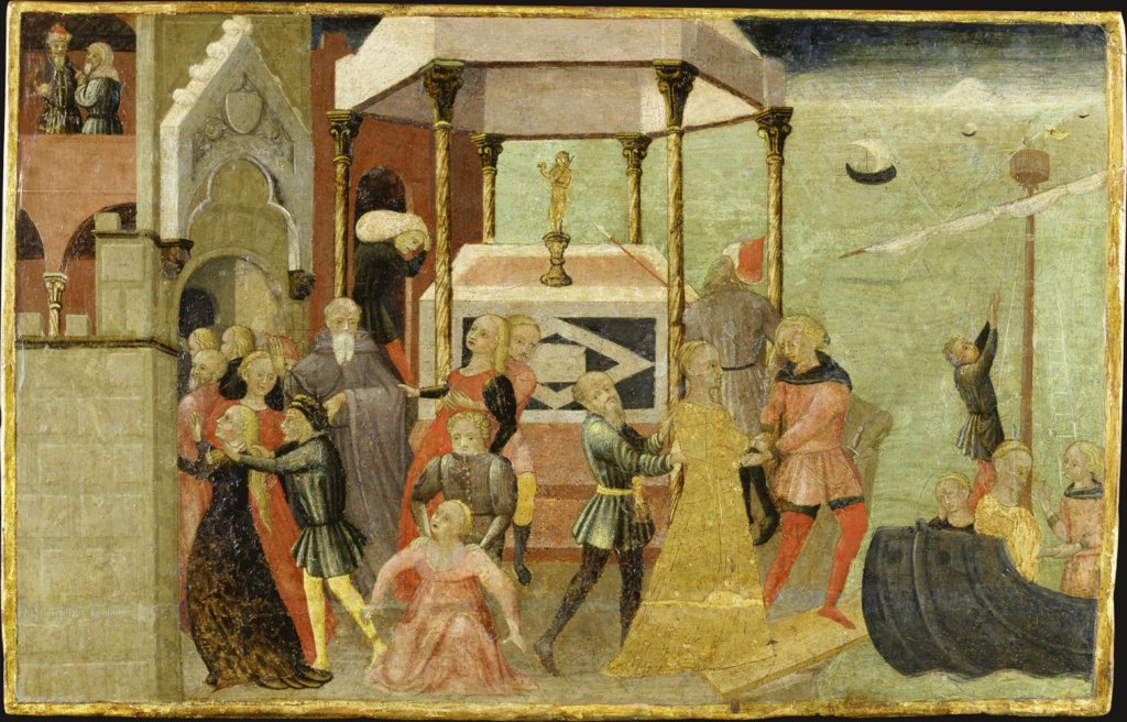 The Abduction of Helen, Sienese Master ca. 1430
