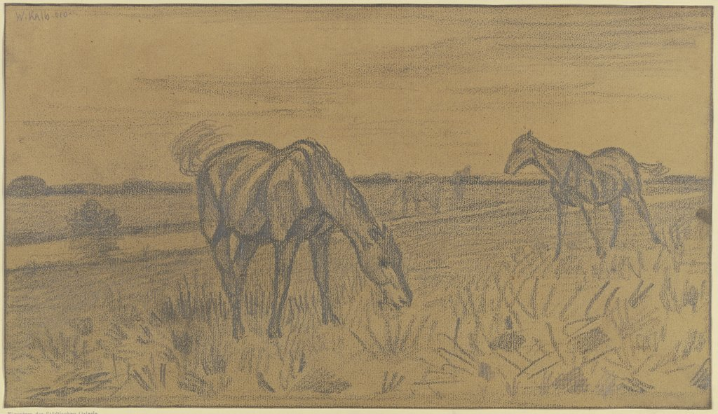 Horses on the field, Wilhelm Kalb