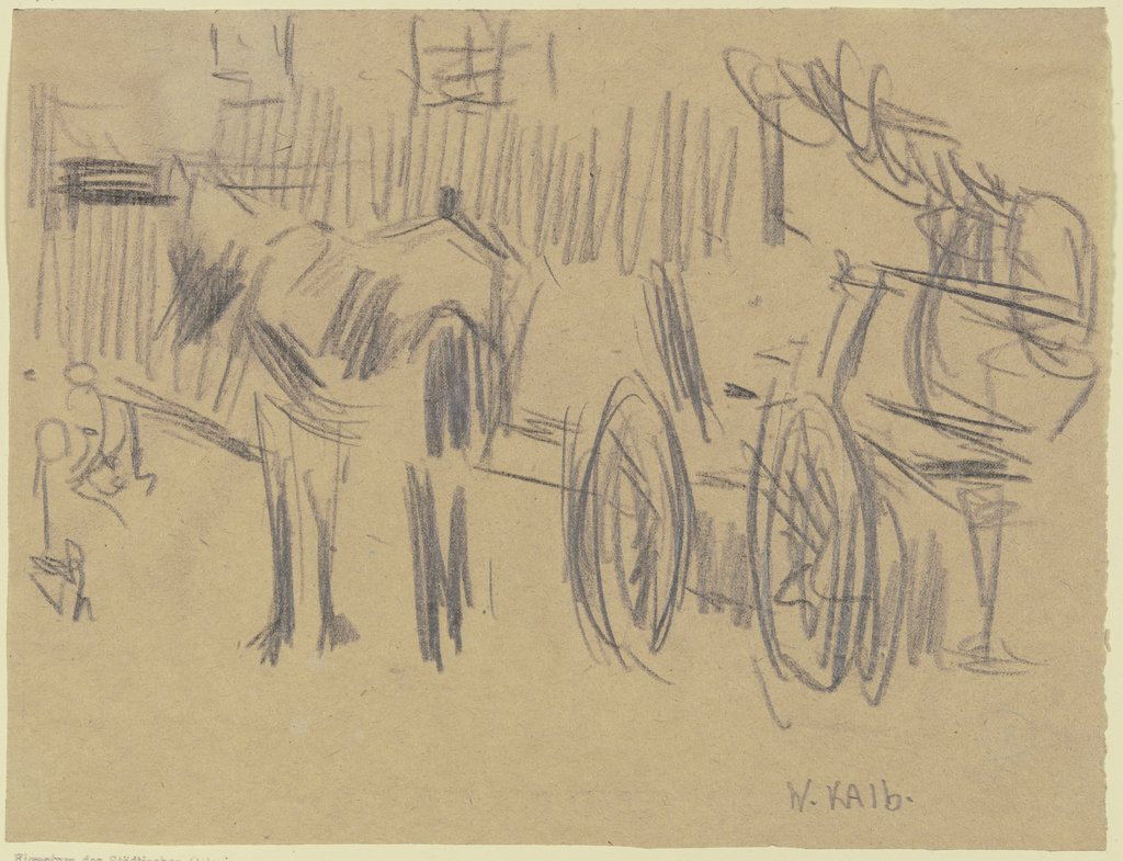 Horse and cart, Wilhelm Kalb