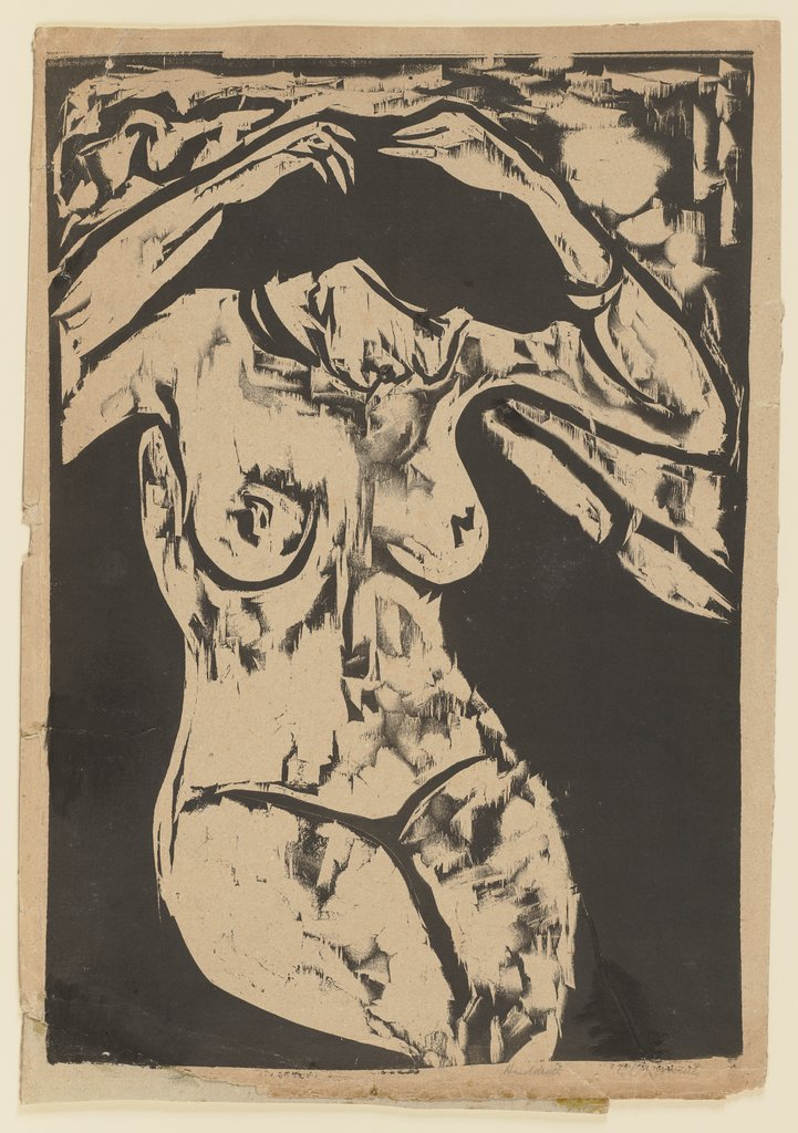 Seated Nude Fixing Her Hair, Ernst Ludwig Kirchner