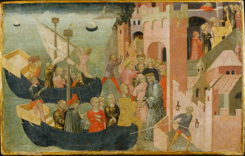Arrival of Helen in Troy, Sienese Master ca. 1430