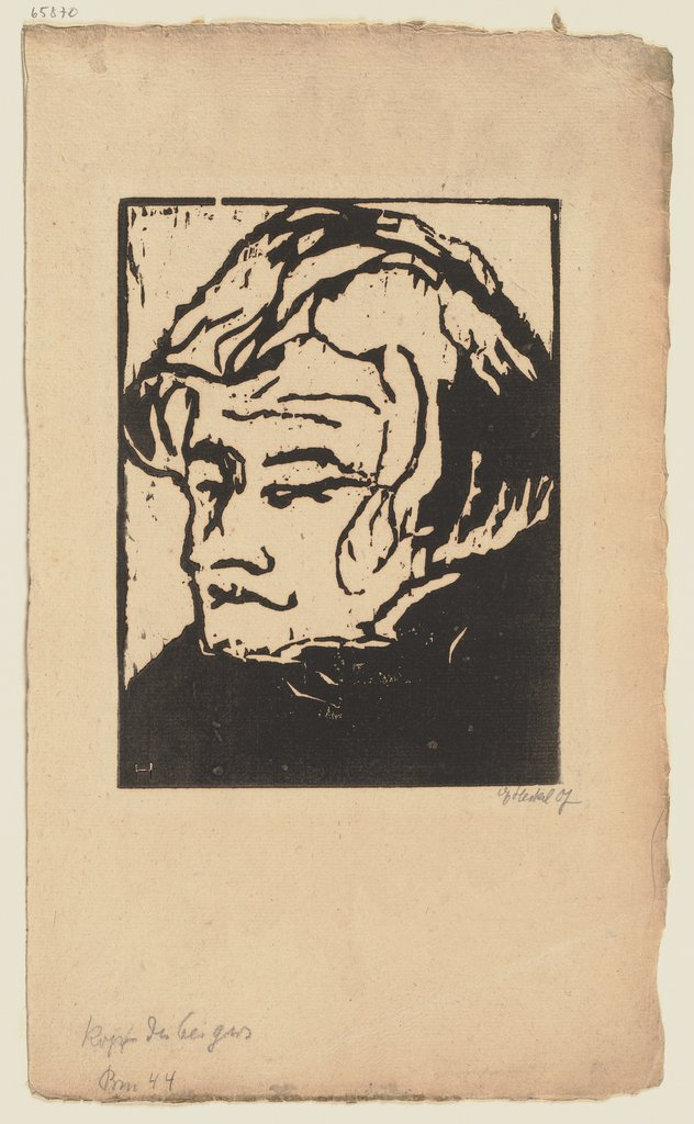 Head of a Violinist, Erich Heckel