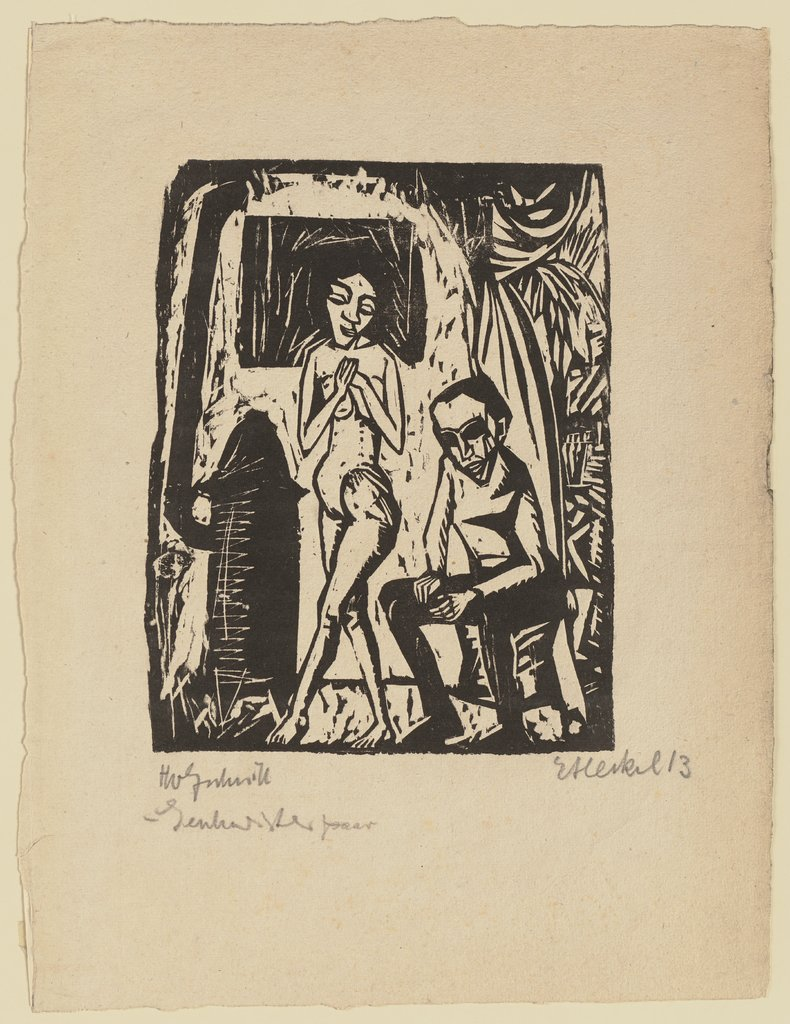Man and Girl, Erich Heckel