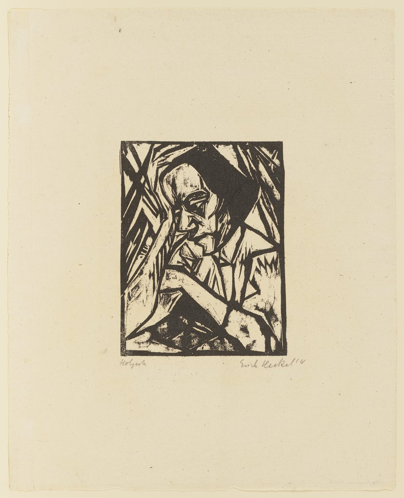 Reflective Woman, Erich Heckel