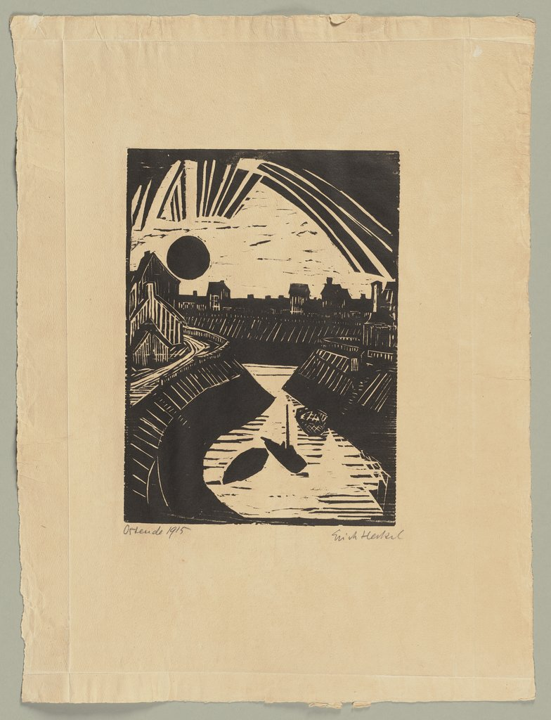 Curving Canal, Erich Heckel