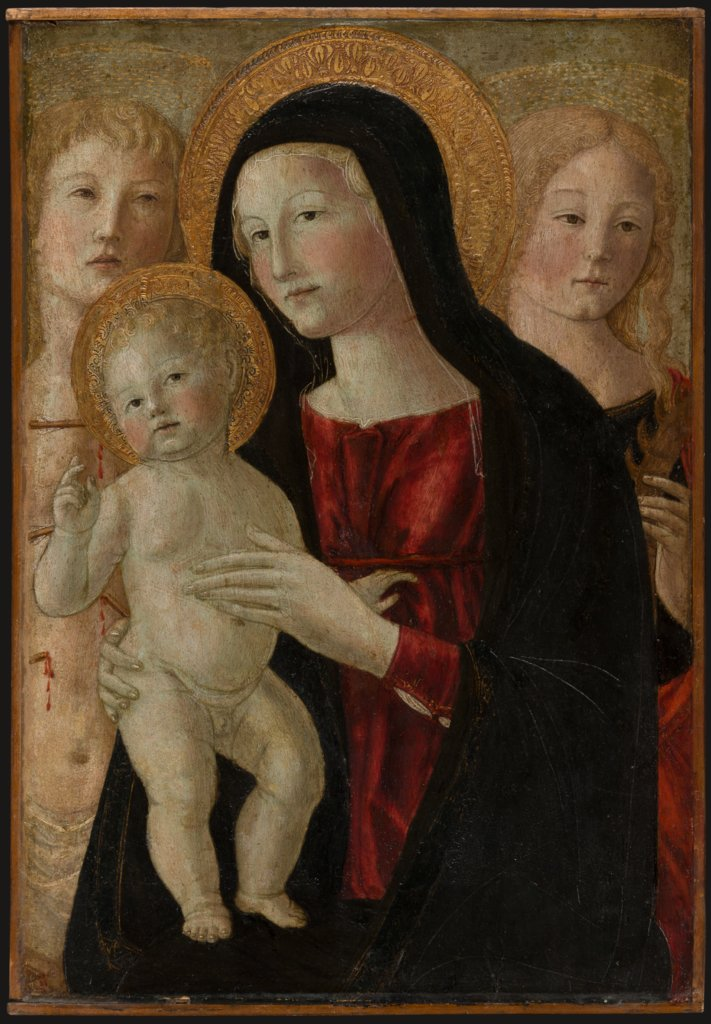 Virgin and Child with Saints Sebastian and Catherine of Alexandria, Neroccio di Bartolomeo di Benedetto de' Landi  workshop