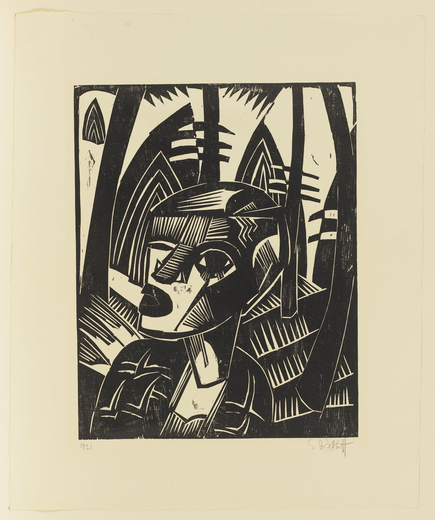 Woman in the Forest, Karl Schmidt-Rottluff