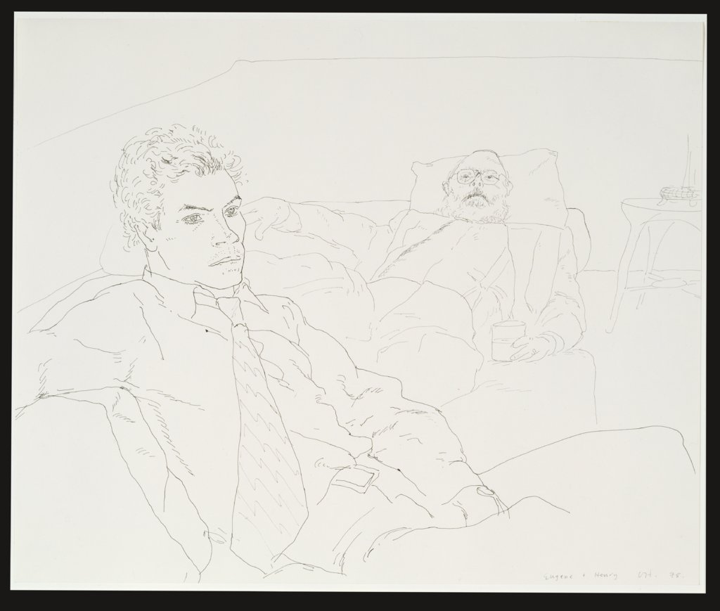 Eugene und Henry, David Hockney